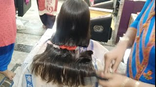 How to do Baby Blunt cut    Bob with blunt cut    Apple cut step by step in hindi