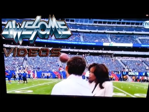 NFL Reporter Pam Oliver Takes Ball To The Face!!