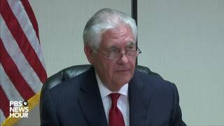 Secretary of State Rex Tillerson comments on Syria attack