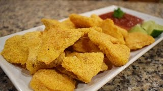 Baked Fish Nuggets, easy and delicious,