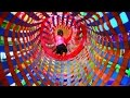 Playground and tunnels fun for kids  - child plays and learns.