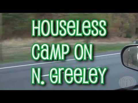 Homeless Camp on Greeley 9.28.15 - Interviews and tour