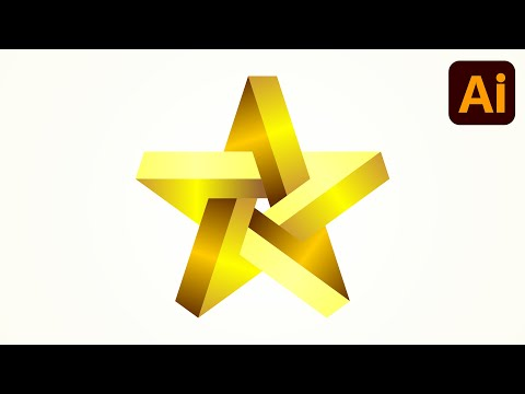 Best logo design | 3D logo design | Star | Adobe illustrator tutorials | 013 thumbnail