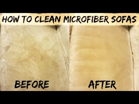 How To: Clean Microfiber Sofas | Easy & Affordable | Michel Dione