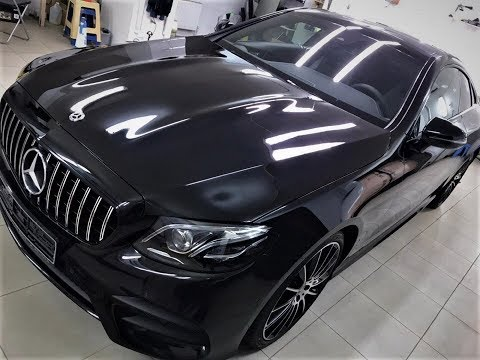 Защита за 150тыс. руб.  Новый Mercedes E Class Coupe оклейка в полиуретаноую пленку