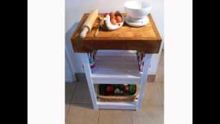 Shabby Chic Butchers Block Kitchen Island Unit Table In Laura Ashley White