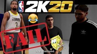 NBA 2K20 MyCareer Intro Part 3 | NBA Draft Combine Fail | Lonzo Ball | Brandon Ingram | Kyle Kuzma