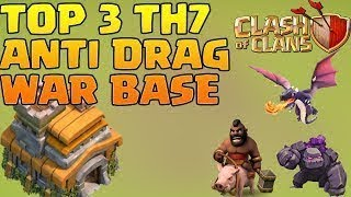 Best UNDEFEATED #1 Town Hall 7 (TH7) Clan Wars Base with Air Sweeper | ANTI DRAG | Clash of Clans