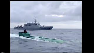 Seized: Drug runners' homemade submarine