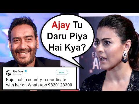 Ajay Devgan Share Wife Kajol Phone Number On Twitter thumbnail