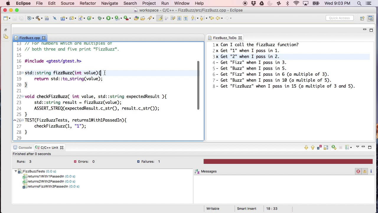 FizzBuzz Test Driven Development Code Kata in C++ - The