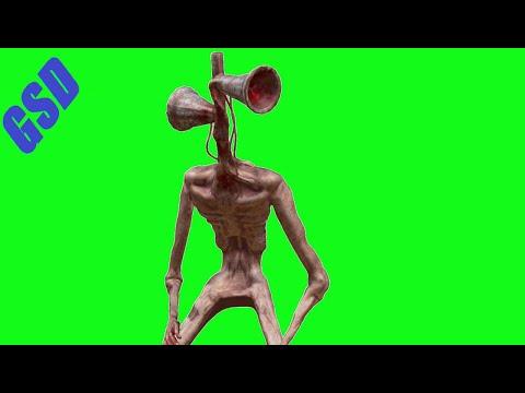 Siren Head Nice Model Green Screens (CGTrader)(Horror Skunx) | Trevor Henderson Fan Made