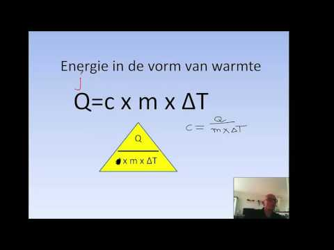 warmte als energiesoort en rekenen met soortelijkewarmte