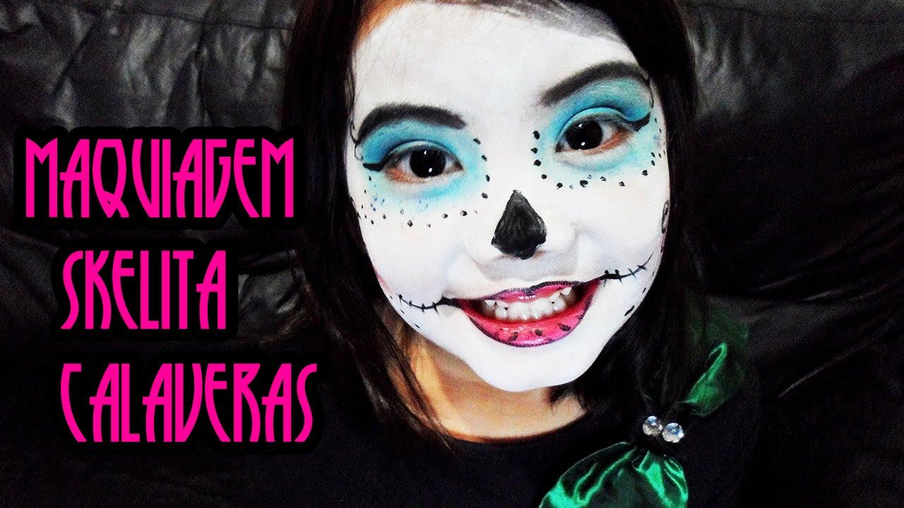 maquiagem da skelita calaveras - Skelita Calaveras Halloween Costume