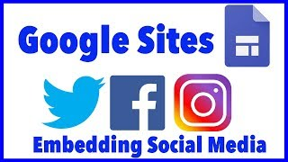 Google Sites - Embed Social Media