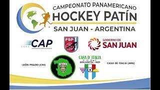 CAMPEONATO PANAMERICANO DE HOCKEY PATÍN - LEON PRADO (CHI) -CASA DE ITALIA (ARG)