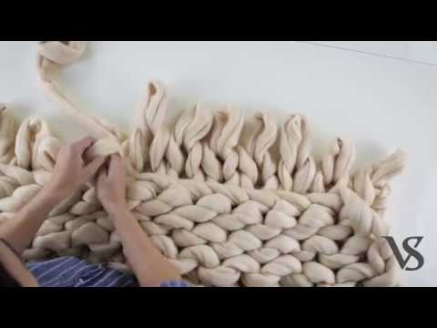How to knit a chunky blanket by VS arm knitting