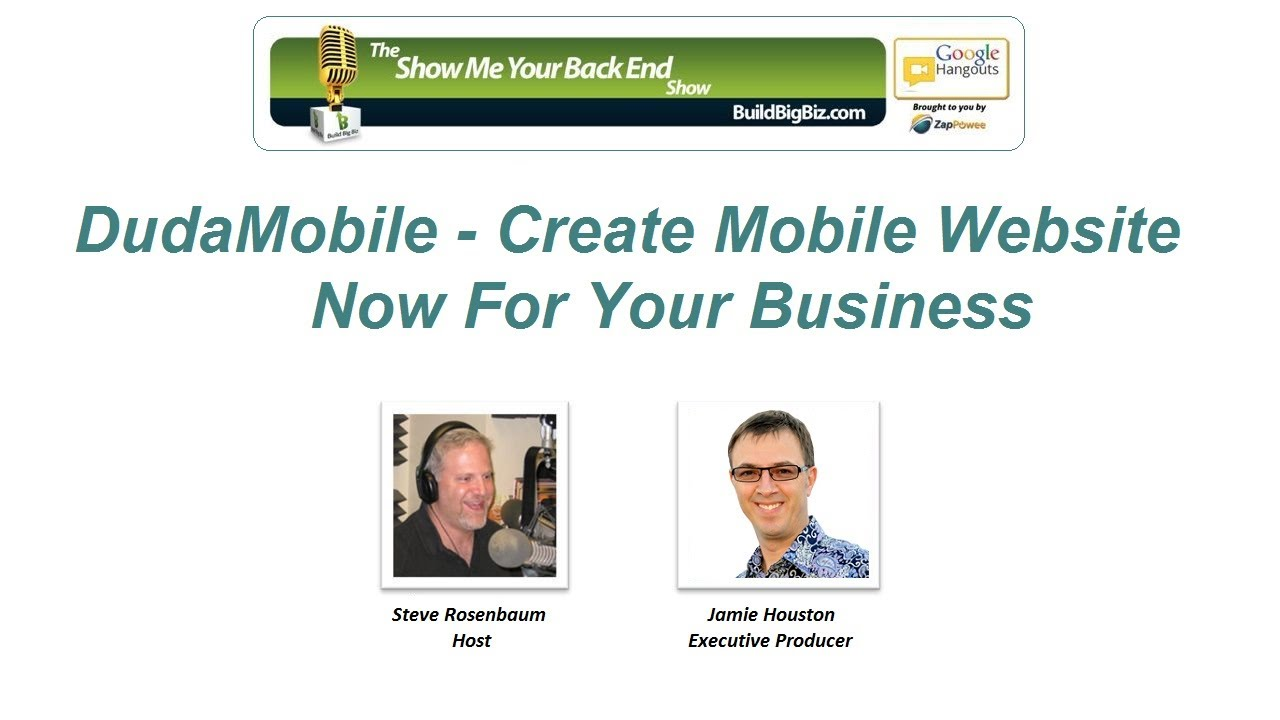 dudamobile create mobile website now for your business show me your back end show episode 15. Black Bedroom Furniture Sets. Home Design Ideas