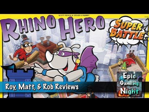 Rhino Hero Super Battle Review - with Roy, Matt, & Rob