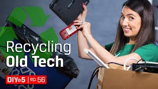 Socially Responsible Ways t๐ Dispose of Electronics ♻ Electronic Recycling Tips - DIY in 5 Ep 56
