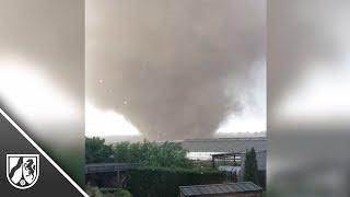 Tornado in Schwalmtal: Anwohner filmt Windhose