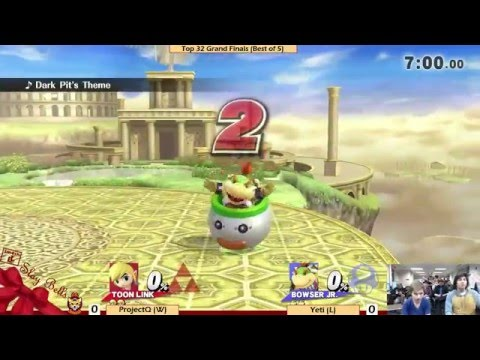 [Slay Bells Arcadian — 12/5/15] Grand Finals: Yeti (Toon Link) v. ProjectQ (Bowser Jr/Others)