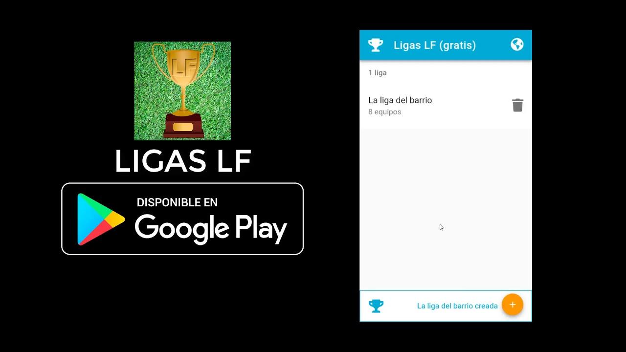 Ligas LF - Gestor de Ligas de cualquier tipo (fútbol, baloncesto, juegos...)