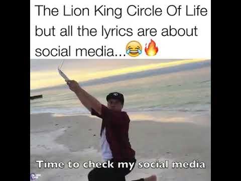 Download The Lion King Circle Of Life but lyrics based on social media