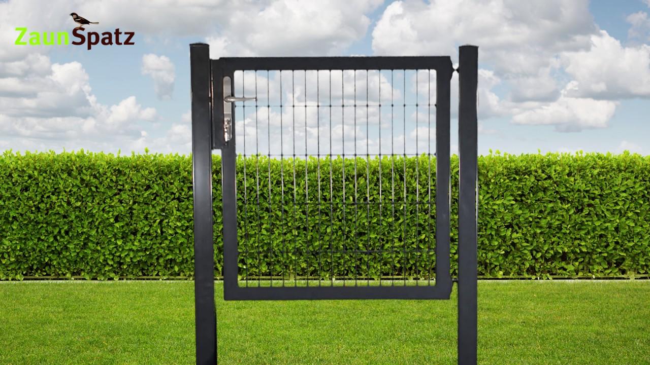 Sehr stabiles Zaun Gartentor einflügelig ZaunSpatz24