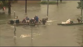 Houston Texas Flooded from Hurricane Harvey videos Compilation 2017