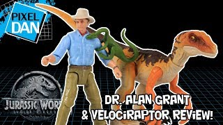 Jurassic World Dr. Alan Grant and Velociraptor Legacy Collection Jurassic Park Mattel Figure Review