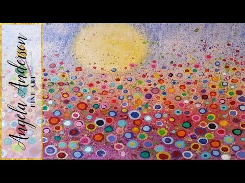 floral landscape acrylic painting tutorial yvonne coomber inspired free lesson for all ages - Free Painting Pictures