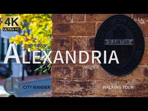Alexandria, Virginia • 4K Walking Tour • Old Town • King Street • Captain's Row