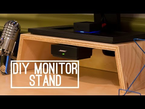 DIY | Wooden Monitor Stand