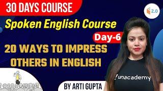 Spoken English Course   30 Days Crash Course   By Arti Gupta   Day-6