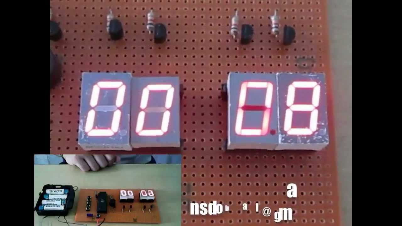 Embedded Project : Count Down Timer Using 8051 Family Microcontroller