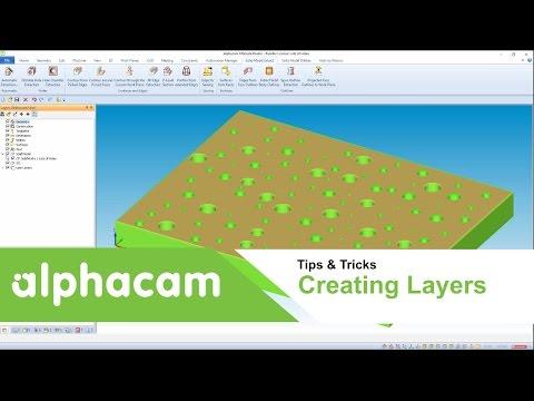 Creating user Layers | Alphacam