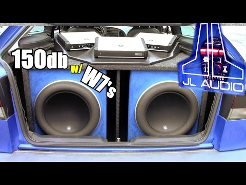 150db JL Audio Install w/ Brian's 13w7 Subwoofers & Two HD1200/1 Bass Amps   Loud SAAB Sound System