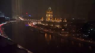 Вечерняя Москва и пробки на дорогах