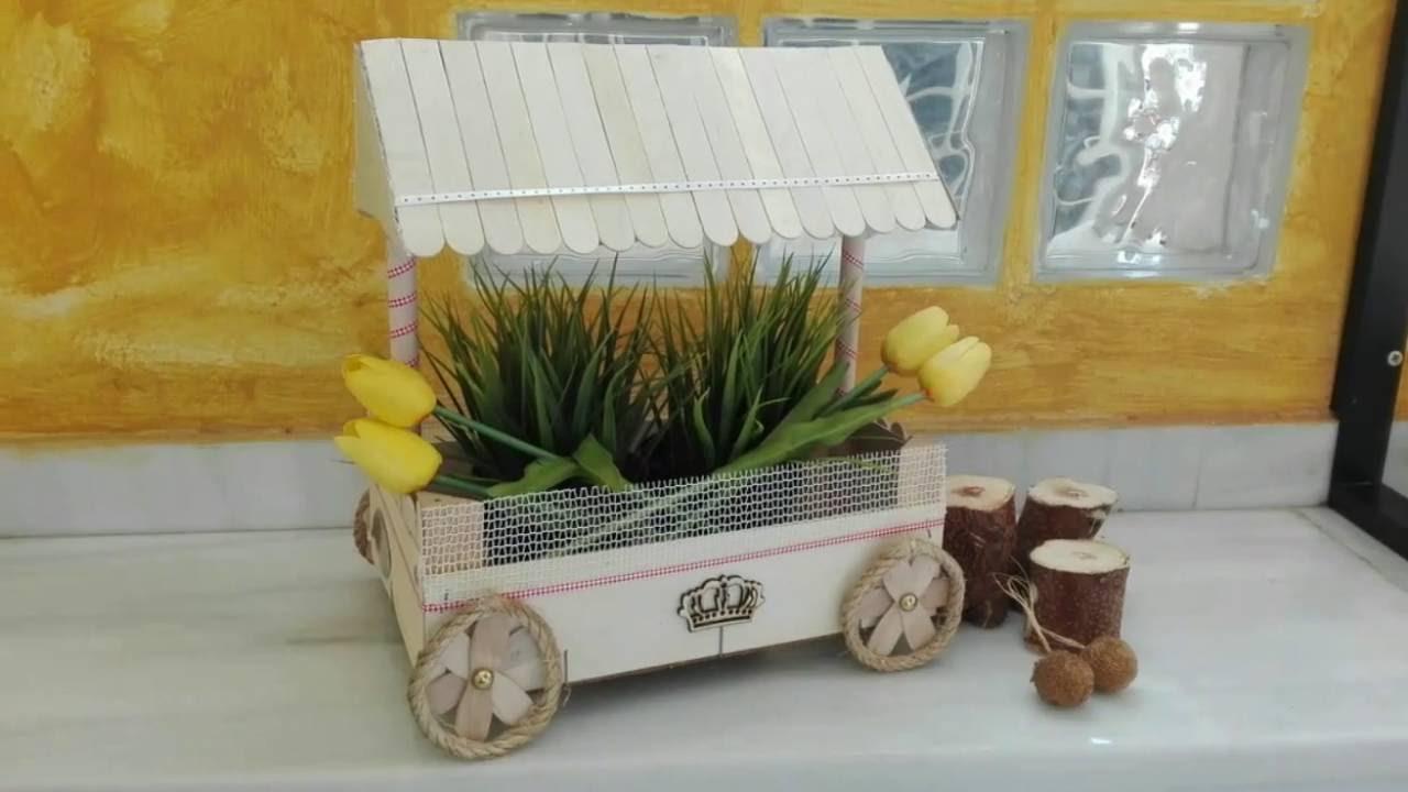 Carrito de chuches 3 reciclando una caja de fresa diy recycled wood box youtube - Ideas para decorar mesas de chuches ...