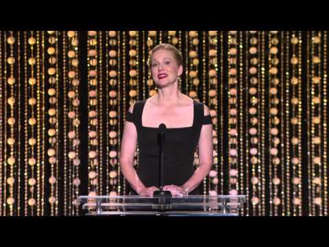 Laura Linney honors Gena Rowlands at the 2015 Governors Awards