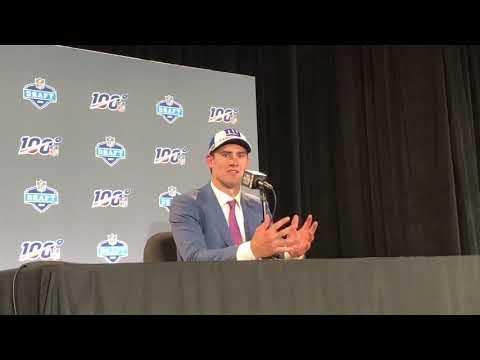 Daniel Jones NY Giants 2019 NFL Draft Pick QB Interview