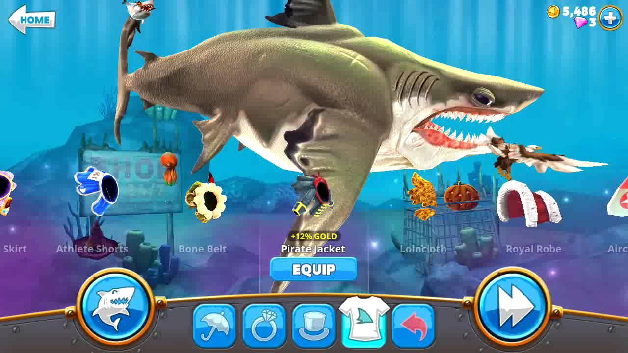 много денег в игре hungry shark