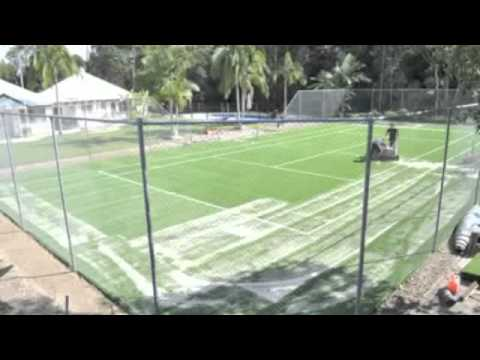 How To Paint A Tennis Court Doovi