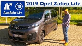 2019 Opel Zafira Life Tourer M 177 PS - Kaufberatung, Test deutsch, Review, Fahrbericht Ausfahrt.tv