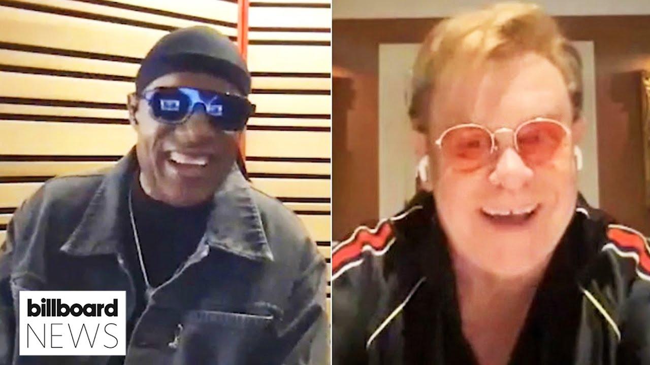 Watch Elton John & Stevie Wonder Talk About Their New Duet 'Finish Line' | Billboard News