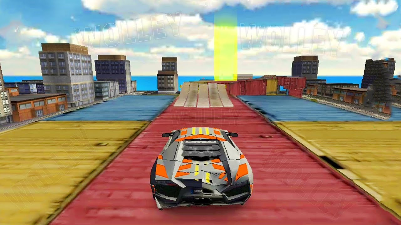 Extreme Car Driving Simulator   Android GamePlay FHD   Lamborghini Stunts  Cars Track Games For Kids
