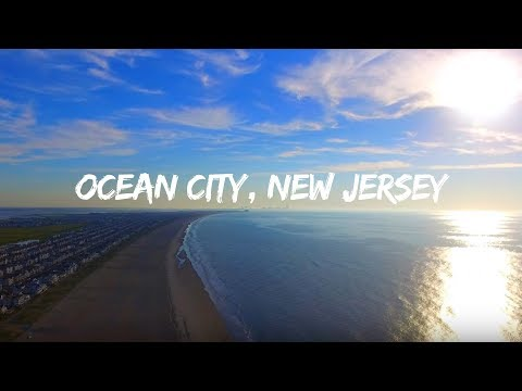 Ocean City, New Jersey Beach Drone Video With Aerial Views