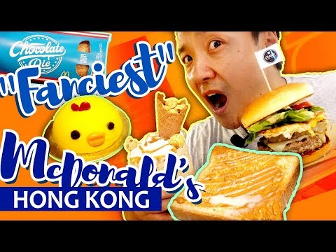 Trying The 'FANCIEST' McDonald's in THE WORLD in Hong Kong | BEST McDonald's Burger!