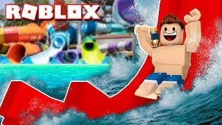 MY OWN WATER PARK | Roblox Waterpark in Spanish
